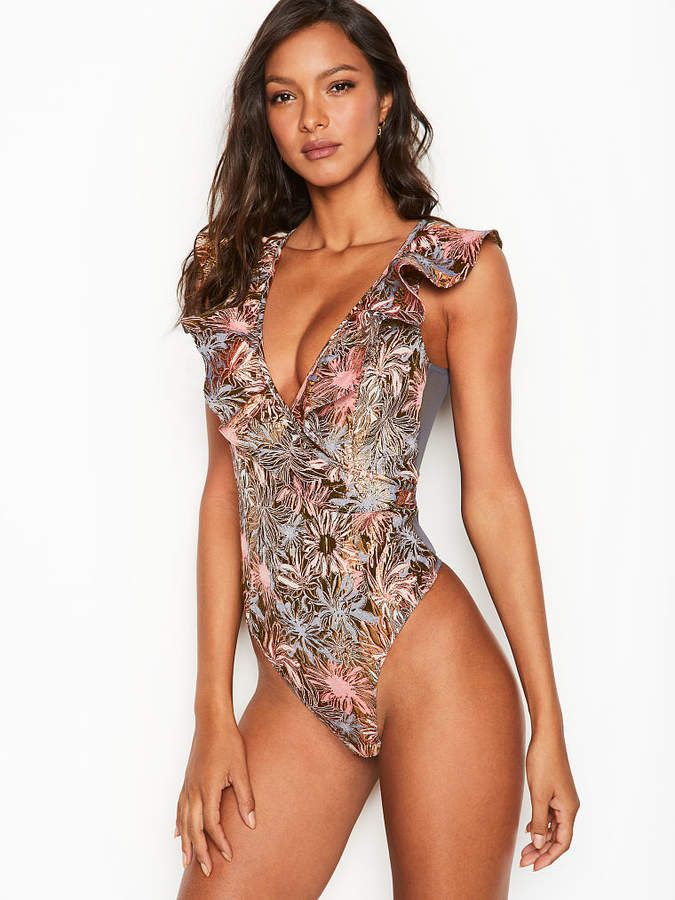 44482b351cce0 Victoria's Secret Dream Angels Shine Brocade Ruffle Bodysuit  #Dream#Angels#Victoria