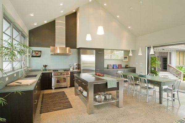 Creative Ideas For High Ceilings Tetos Altos Iluminação Cozinha Cozinhas