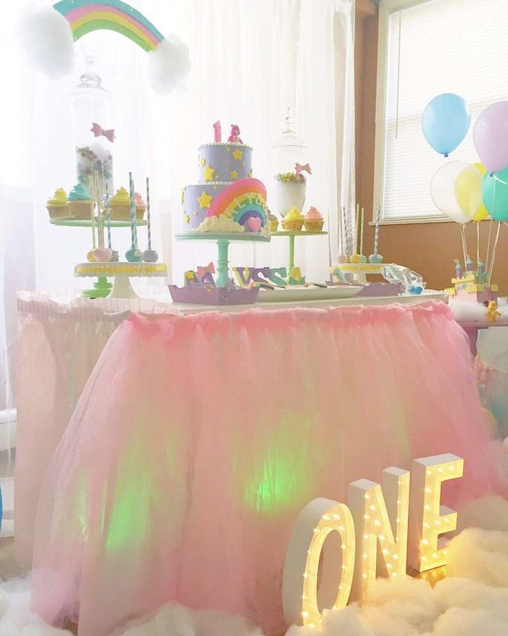 Pretty pastel Care Bears birthday party! See more party ideas at CatchMyParty.com!