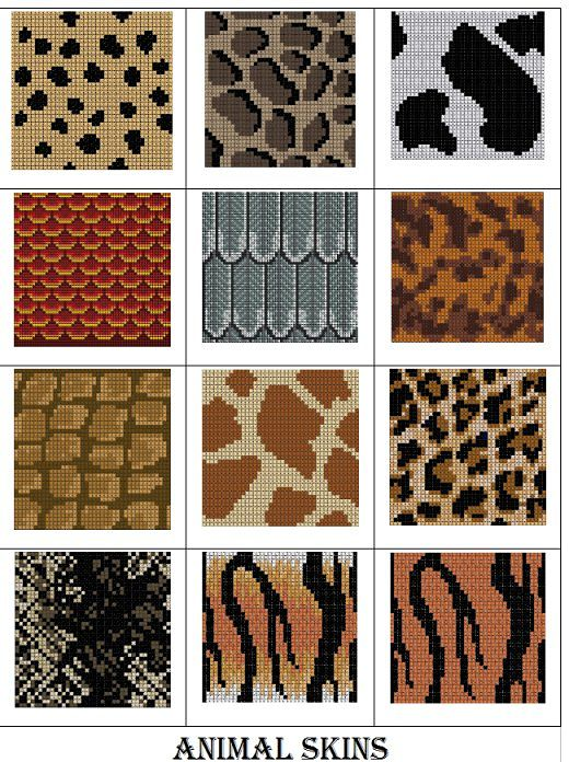 Animal skin charts ... whimsical and humane!