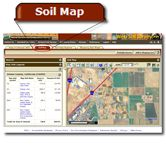 Web Soil Survey software from the USDA real field equipment, data, and results.  http://websoilsurvey.nrcs.usda.gov/app/