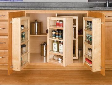 Creative ways to hide your small kitchen appliances [I'd want this eye-level height. No kneeling pls. NLP]