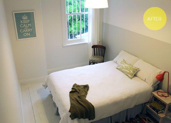 Tiny bedroom come good sleeping pinterest bedrooms for Minimalist guest room
