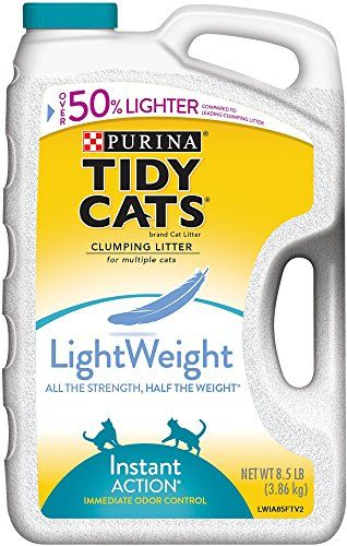Tidy Cats Instant Action Performance LightWeight LitterAll the Strength Half the Weight(TM). New Tidy Cats(R) LightWeight Instant Action (TM) is half the weight of traditional scooping litters plus ...