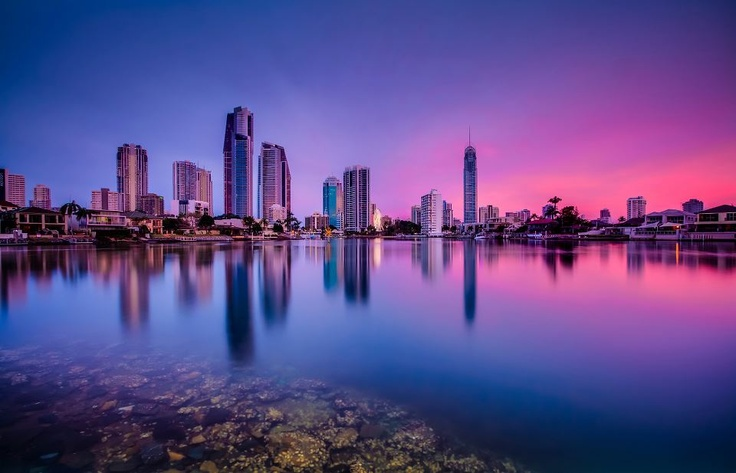 Sunset on the Gold Coast Queensland. Brought to you by Femme Classic Art http://www.femme-classic-art.com Tags: win trip to Australia pin it! Contest competition