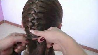 Peinado de Fiesta! - Corona Trenzada - Te enseñamos Peinados y Trenzas - YouTube