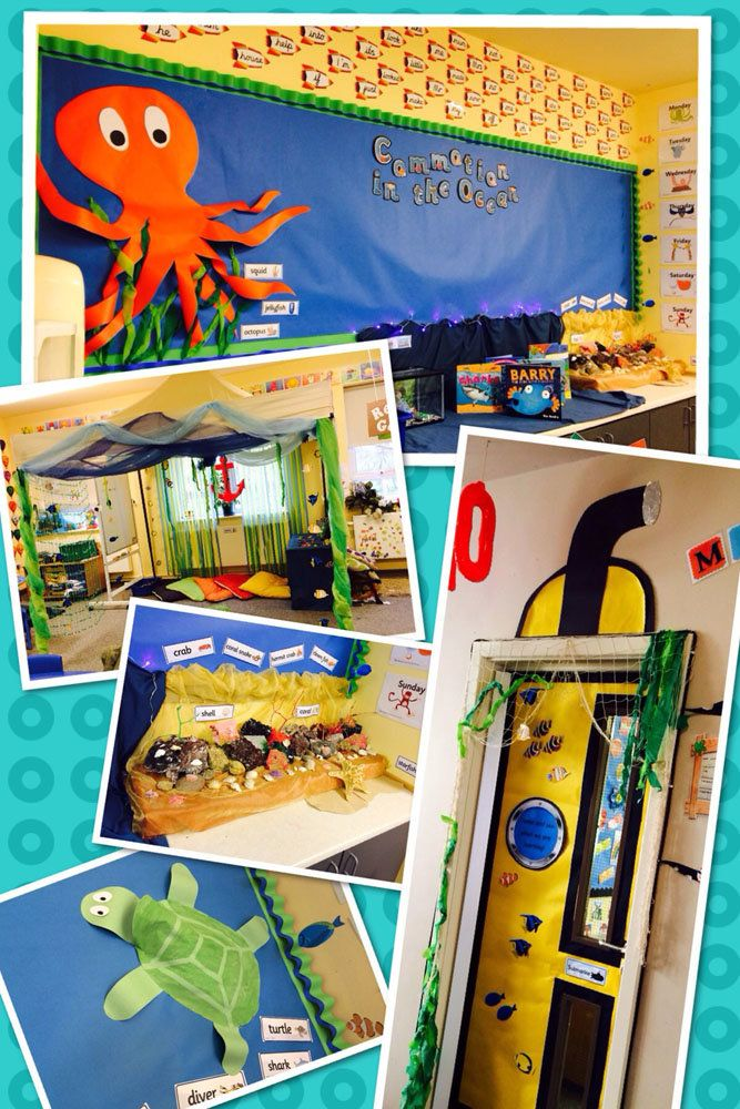 Under the Sea, Commotion in the Ocean Turtle, Storybook, Squid, Fish, Display, Classroom Display, Early Years (EYFS), KS1 & KS2 Primary Teaching Resources