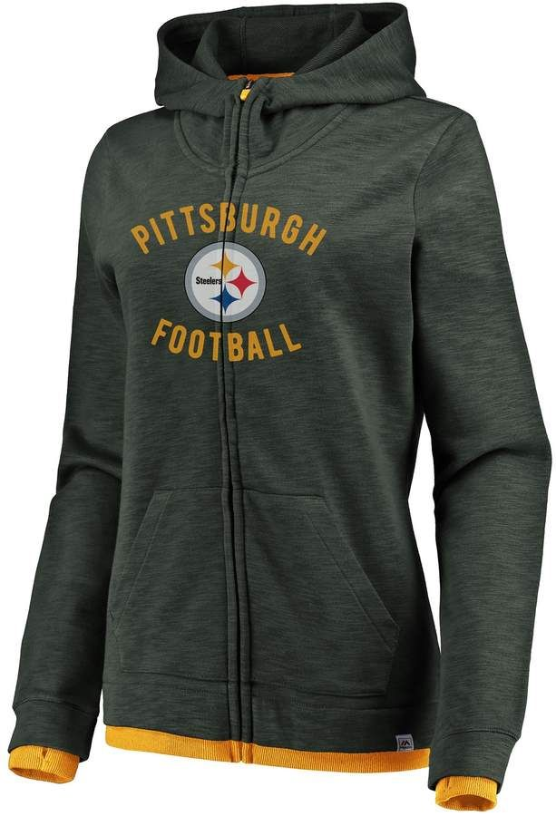 promo code 2ba1e ac6af Majestic Our Team Hoody Pittsburgh Steelers Grey Sweatshirts ...