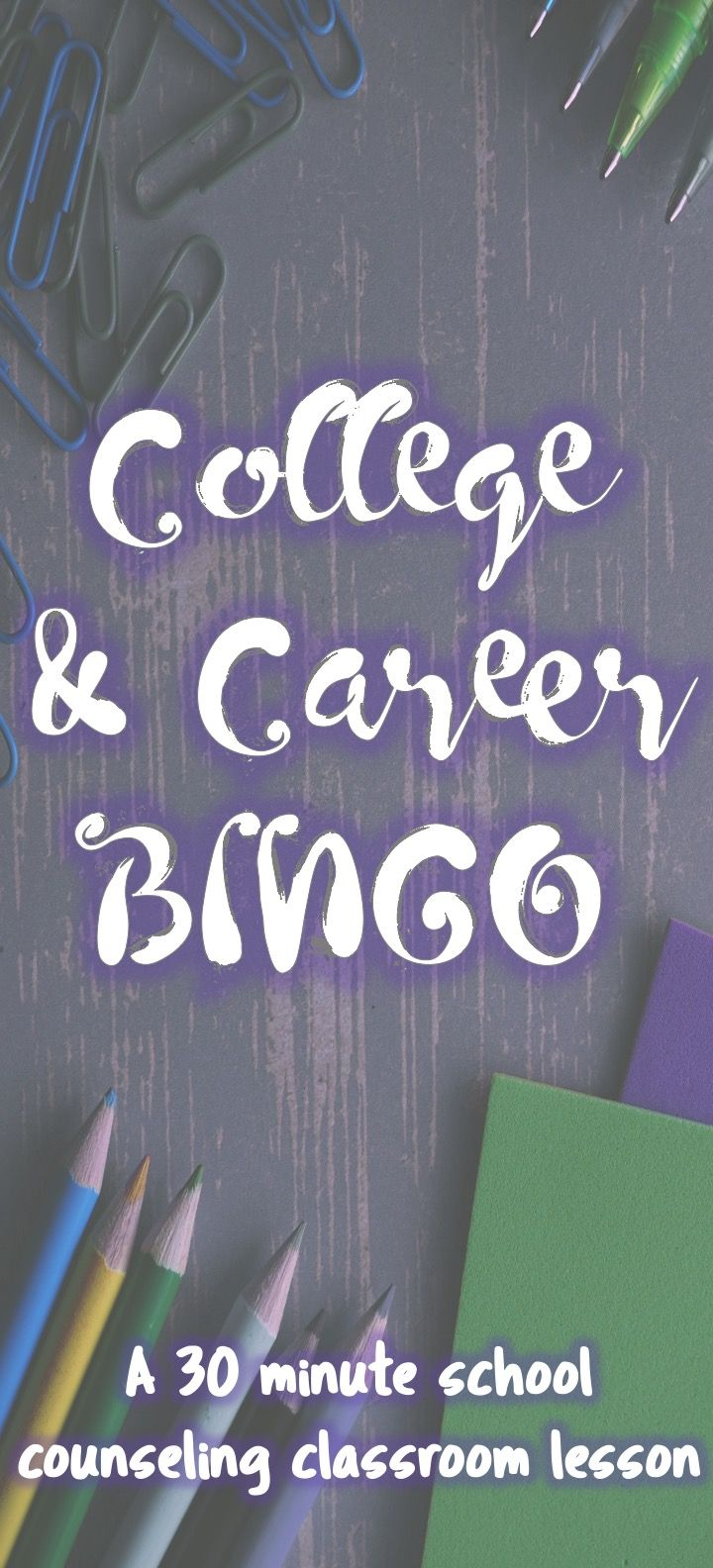 What better way to grow scholar self-efficacy in navigating the world of college and career education...than playing BINGO! This lesson provides base level information to facilitate additional college and career school discussion in the classroom, including related vocabulary and a brief introduction to financial aid.