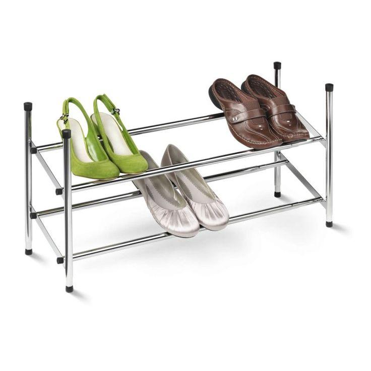 honeycando sho01170 2tier expandable stackable shoe rack chrome