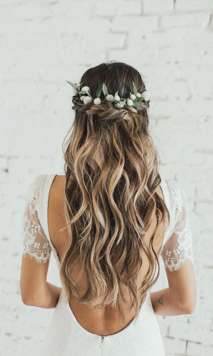 Wedding Hair Half Up Half Down With Veil And Tiara Opposite