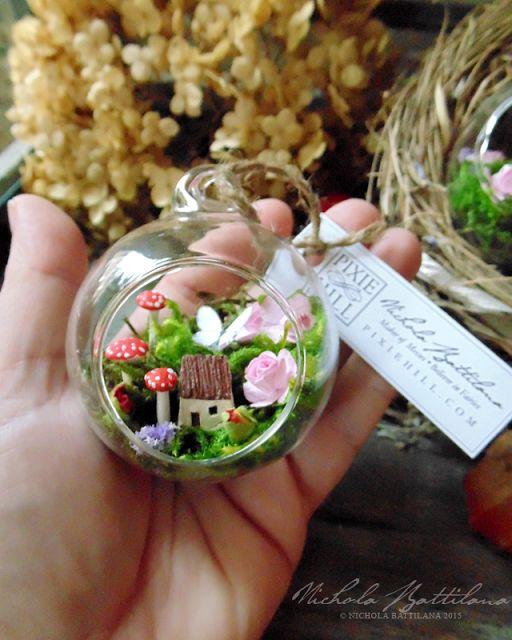 Miniature Fairy Garden Glass Bauble - Nichola Battilana