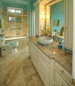 Tile Floor Designs With The Theme Of Creamy Soft Color Design For The Bathrooms