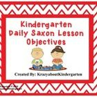 Saxon Math Daily Objective Posters  These daily objective posters cover all lessons of the current Saxon Math series.  Each poster states the objec...