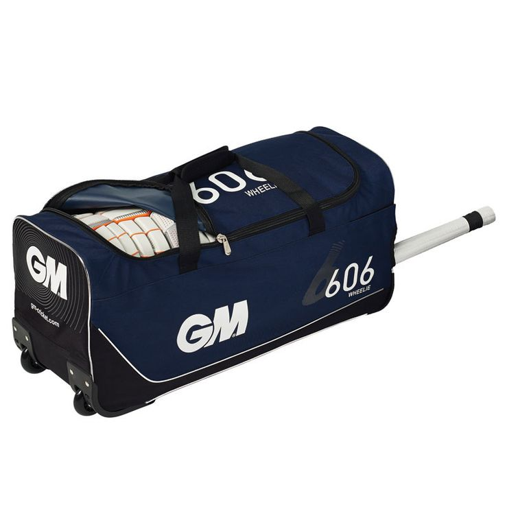 GUNN AND MOORE 606 CRICKET WHEELIE BAG - Huge amount of space too store your cricket equipment with a large opening for easy access. Anti-scuff corner protection. size 66x31x31cm