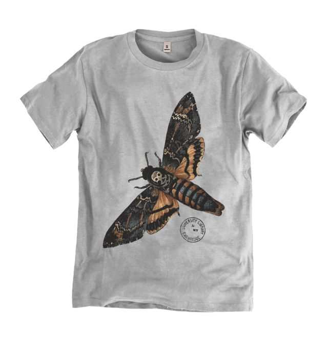 Death's-Head Hawk Moth T-shirt: One of our unique range of clothing and accessories featuring amazing entomology, maps and mathematics prints from the collections of Cambridge University Library. #T-Shirt #Hoodie #Tote
