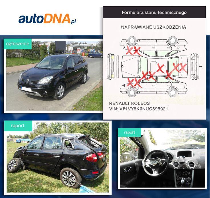 Baza #autoDNA - #UWAGA! #Renault #Koleos https://www.autodna.pl/lp/VF1VY5K0NUC395921/auto/cf81d9f1bafc10d4659deeb4501038e67f73ba48 https://www.otomoto.pl/oferta/renault-koleos-2-0-dci-navi-skora-panoramiczny-dach-ID6yN9R9.html