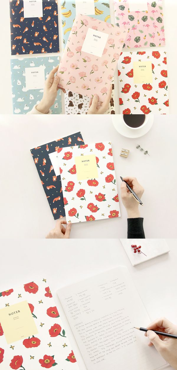 "The adorable and beautiful cover patterns and useful college-ruled note pages; the notebooks in the set will show you why they are ""lovable""."