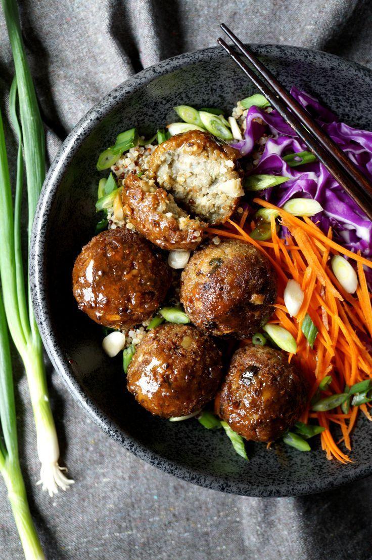 Vegan japanese eggplant no-meatballs