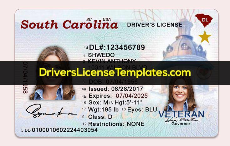Download fake south carolina drivers license usa in 2020