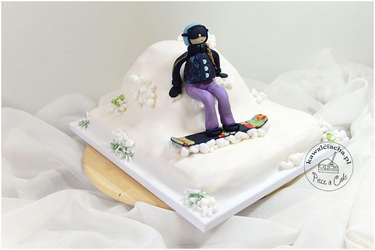 """Tort w stylu angielskim """"snowboard"""".  Więcej na http://www.pieceacake.pl/96"""