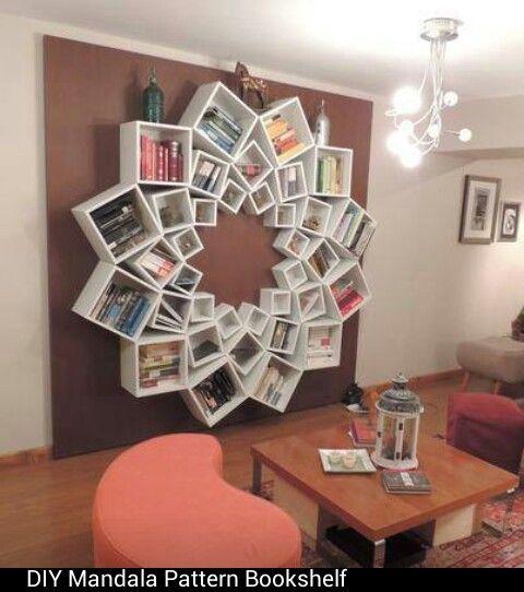 A neet way to make a book shelf.