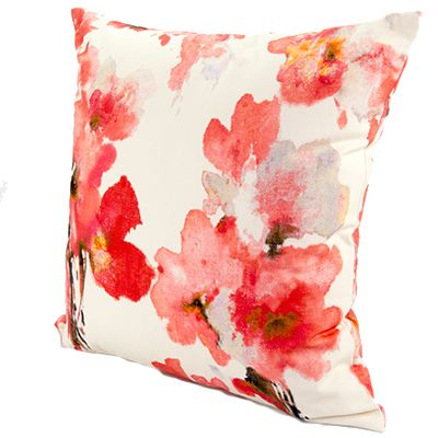 Lynton Rose from www.designarthouse.com.au.  A gorgeous floral cushion range available in three colours, rose, aqua and yellow. Made from 100% linen.   Dimensions: 50cm x 50cm   Includes insert.