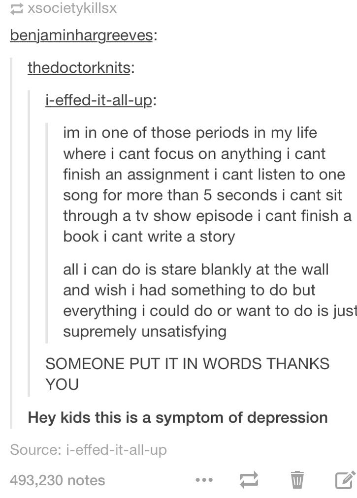 I already know it's depression, but this person describes it pretty well.