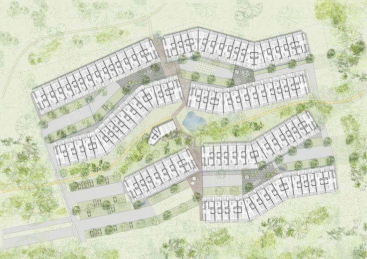 Galeria de White Arkitekter dilui os limites entre o artificial e o natural em projeto de habitação social na Dinamarca - 2