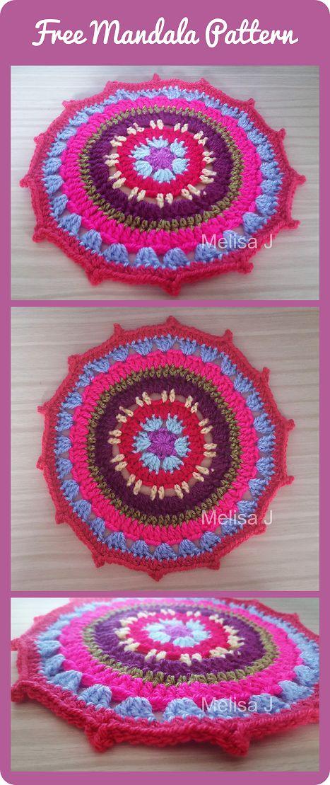 FREE Mandala Crochet Pattern - written by Melisa J @ intheloopcrafts.blogspot.com