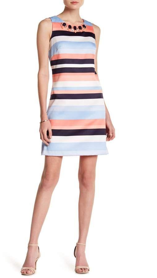 c76d0ecc438 Vince Camuto Embellished Stripe Dress Nordstrom Rack