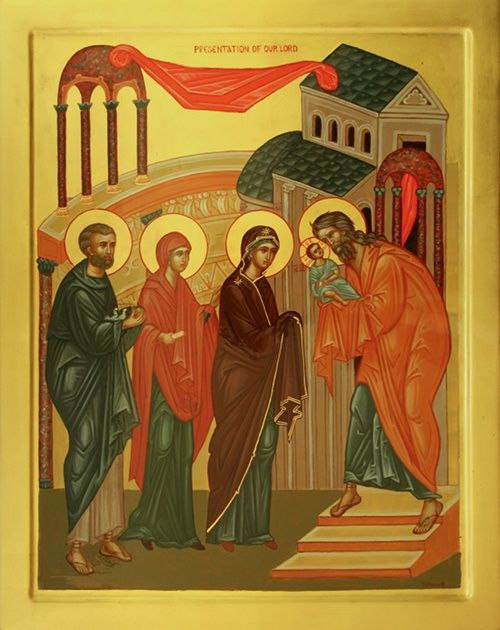 Icon of The Presentation in the Temple