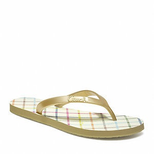 'Coach Q1540 Cassie Tattersall Sandal 7M' is going up for auction at  4pm Mon, Jun 10 with a starting bid of $1.