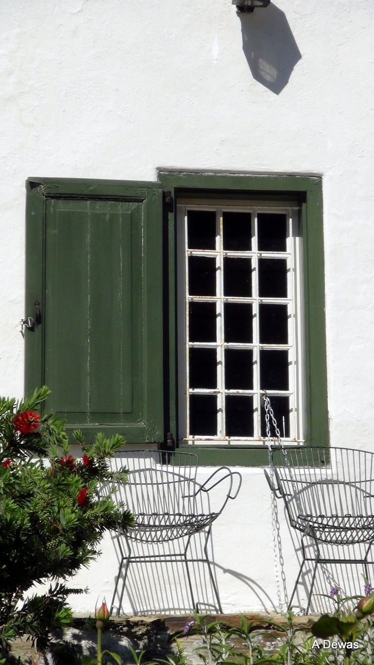 Window of a house in Tulbagh in the rich Wine lands of the Boland, Western Cape, South Africa