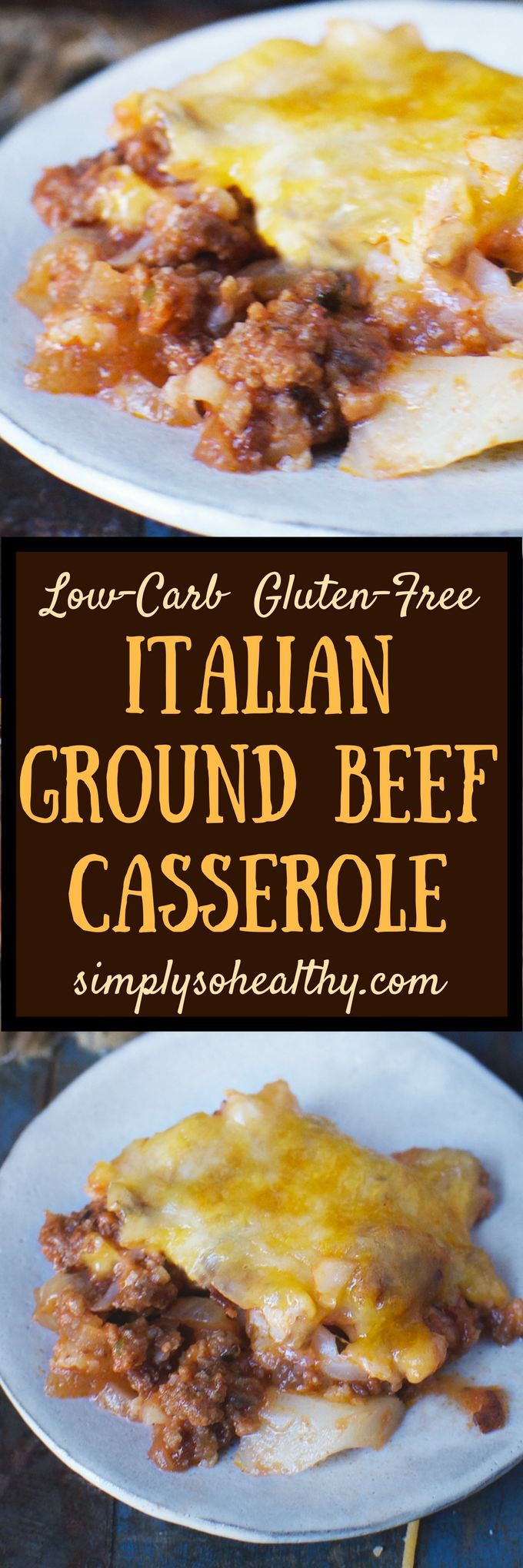 This Keto-friendly Italian Ground Beef Casserole Recipe makes a meal even the kids will love! It's suitable for low-carb, ketogenic, Atkins, diabetic, LC/HF, and Banting diets. This casserole is a grown-up version of Beef-a-roni!