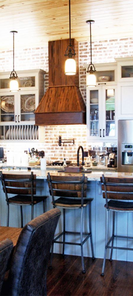 Beautiful Lake House Kitchen sent to us from a customer in South Carolina. They used a the Proline ProV range hood insert to go inside their custom wood range hood cover. Looks beautiful!  View our Range Hood/Vent Hood Selection: prolinerangehoods.com