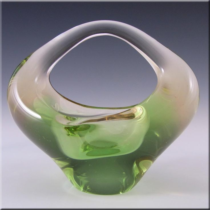 Skrdlovice Czech Glass Sculpture Bowl Jan Beránek #6240 - £17.99