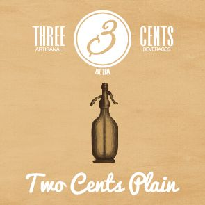 soda water 'two cents plain' by three cents