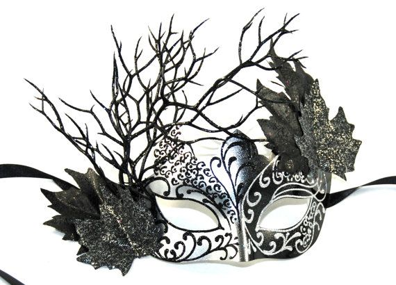 Black Fairy Masquerade Mask. Perfect for themed weddings, Halloweeen or costume party! Madamemerrywidow.etsy.com