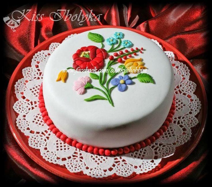 Édes Kiss Hobbim és Cukorvirágaim: Magdikának, kalocsai torta, Hungarian cake