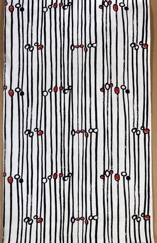 Danuta Teler-Gęsicka, tkanina drukowana, 1958. Wł. Muzeum Narodowe w Warszawie