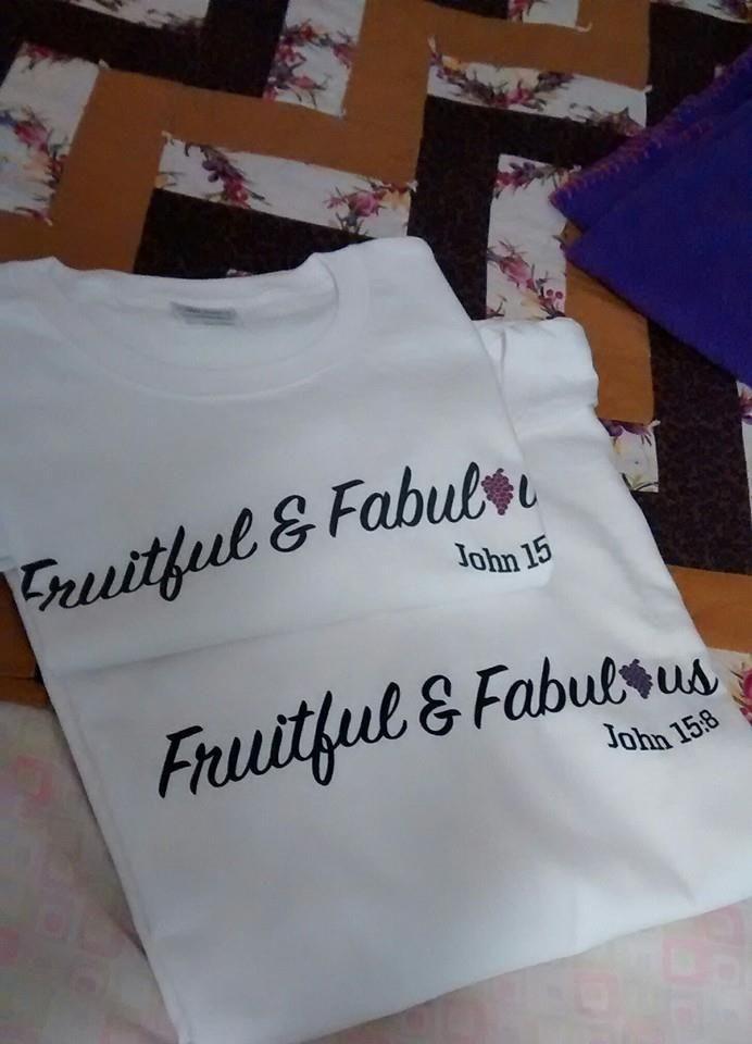 White Fruitful & Fabulous Logo Tees