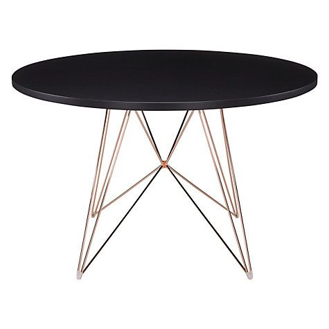 Magis XZ3 Round 4 Seater Dining Table, White/Gold Available in white
