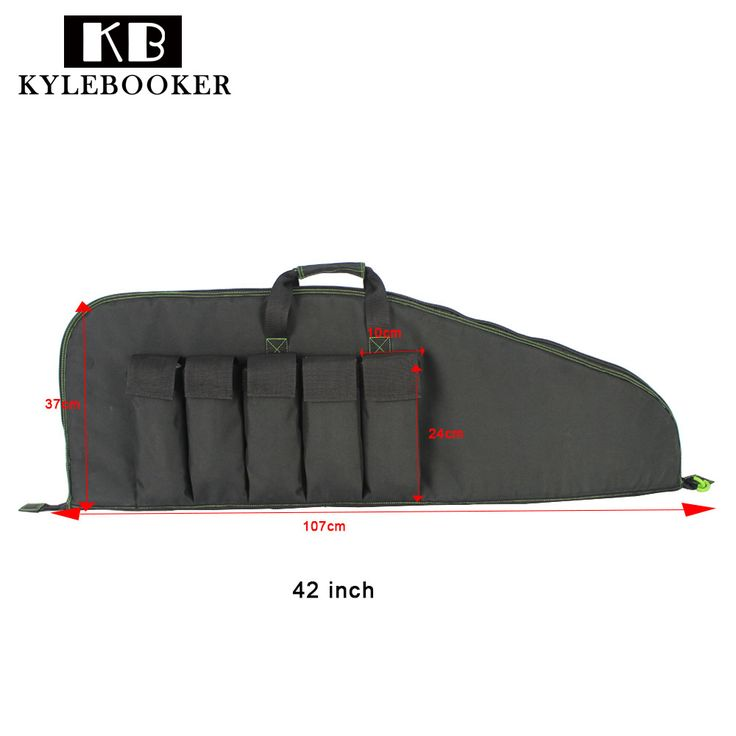 """Kylebooker Black 42"""" Soft Scoped Tactical Rifle Case Military Weapon Hunting Gun Carry Bag With 5 Big Managzine Pouch  #Affiliate"""