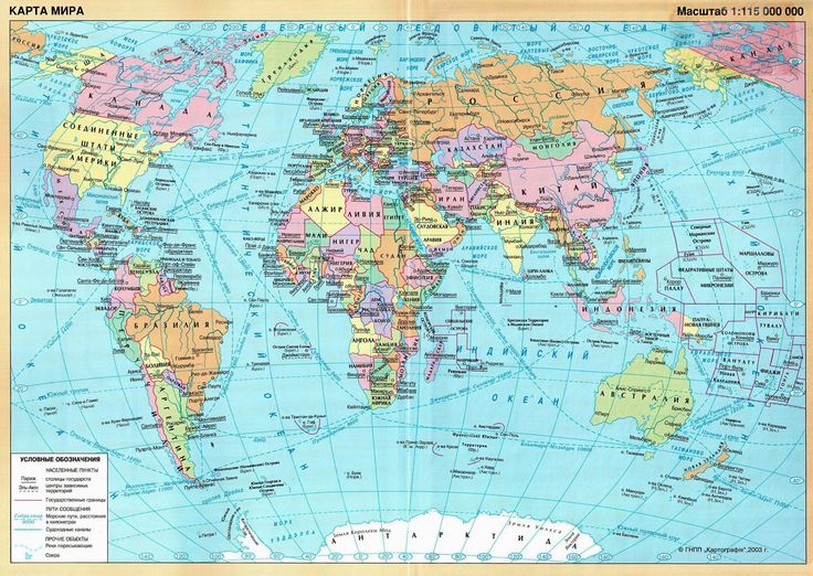 World map for Russia