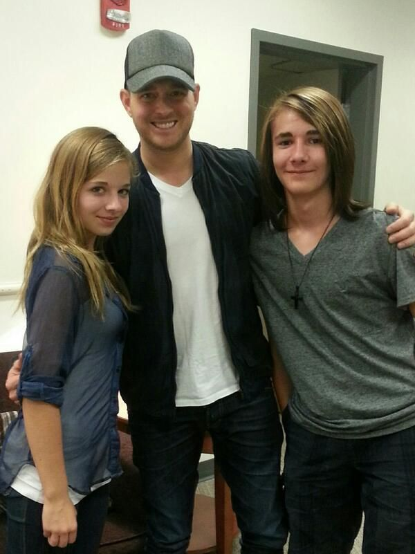 jackie evancho with her brother and michael buble jackie