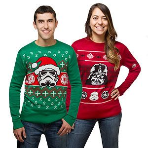 Star Wars Holiday Sweaters - not KNITTED but storebought BUT still wicked!
