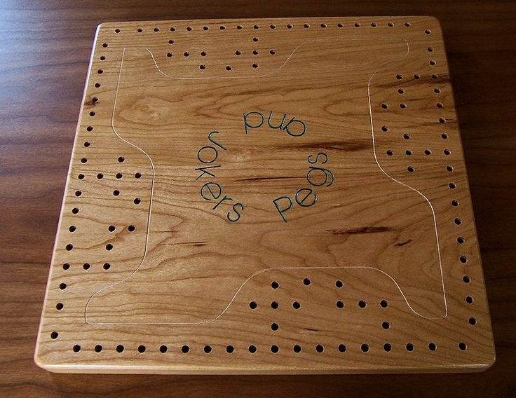 4Player Cherry Pegs and Jokers / Aggravation Board Game