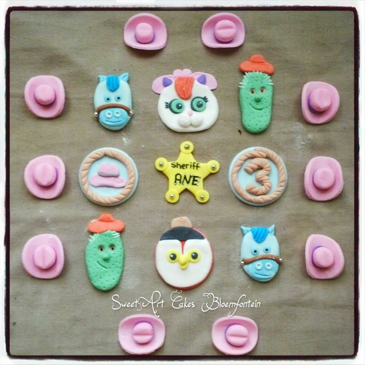 SHERIFF CALLIE CUPCAKE TOPPERS. For more information & orders Email SweetArtBfn@gmail.com or Call/WhatsApp 0712127786 (Lola)