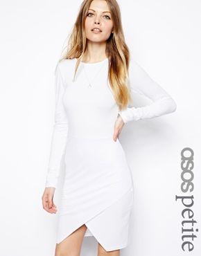 ASOS PETITE Asymmetric Body-Conscious Dress